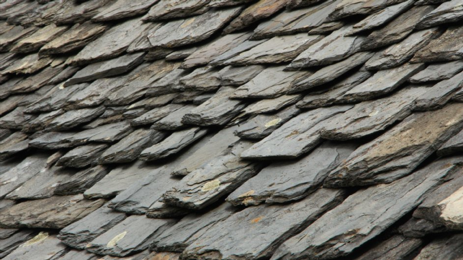 detail of an old roof